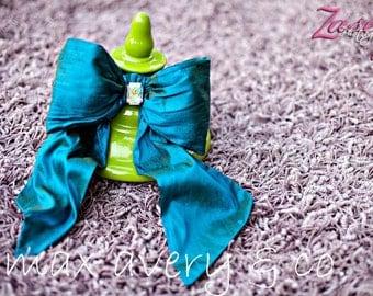 Sadie Blu Blue- Dupioni Silk Bow