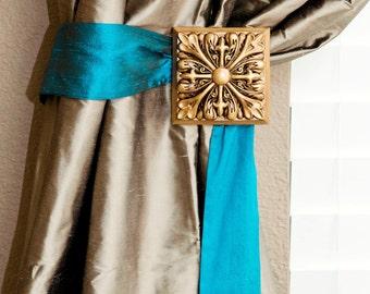 Sadie Blu Blue- Dupioni Silk Drapery Tie Back
