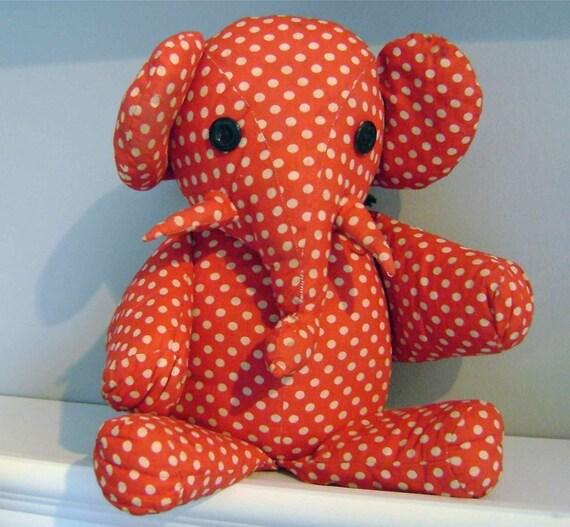 Reserved Vintage Polka Dot Elephant