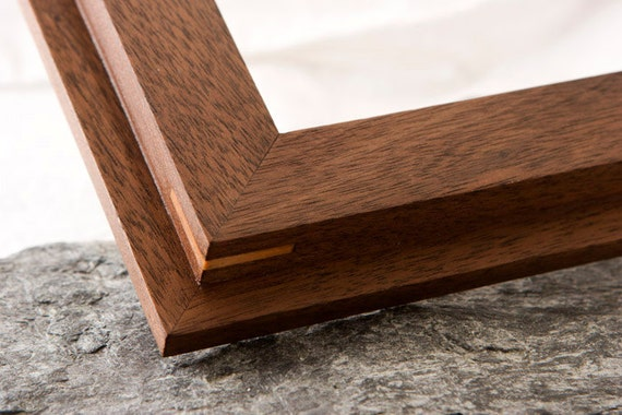 16x20 Walnut solid hardwood picture frame with beeswax finish