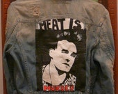 Morrissey The Smiths hand painted denim jacket