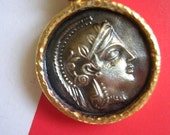 ATHENA PENDANT sterling gold ancient historic inspired coin