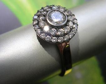 MIRIAM RING antique edwardian inspired sterling cz zirconia rose gold