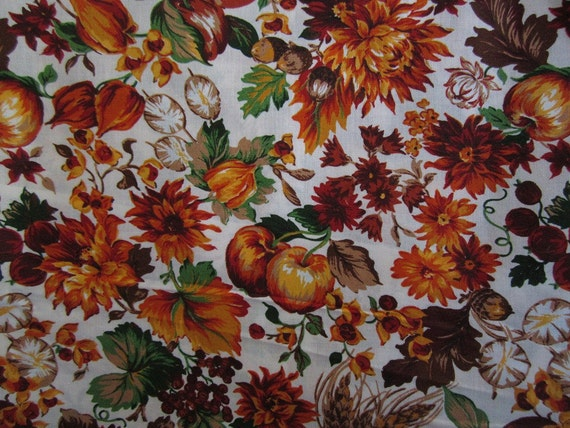 1 Yard of Fall...Autumn..Thanksgiving Cotton Fabric by Cranston