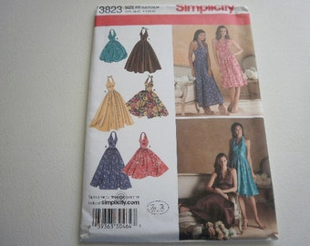 Pattern Ladies Dress with Skirt Variations Sz 6 to 14 Simplicity 3823