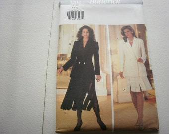 Pattern Ladies Skirt Top and Slip Size 6-8-10 Uncut Butterick 3202