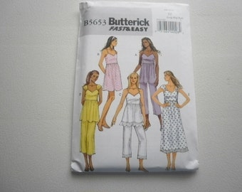 Pattern Ladies Dress Top and Pants Sizes 16-26 Butterick 5653