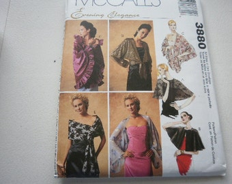 Pattern Ladies Capelets Boleros and Shrugs  Sizes 4 to 22  McCalls 3880