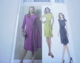 Pattern Ladies Dress 3 Styles Size 8 to 14 Butterick 5416