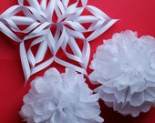 Snowflakes and Snowballs for Winter Birthday Decorations Christmas Decorations Holiday Decorations Winter Baby Shower - MyScrapbookStudio