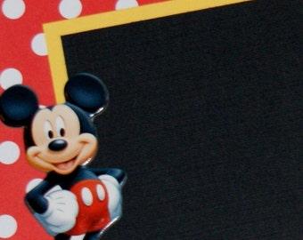 Disney Scrapbook Album, Premade Disney Vacation Scrapbook Album, Mickey Mouse Birthday Scrapbook Album, Disneyland Vacation Scrapbook