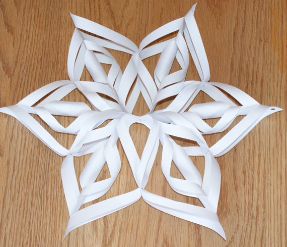 Items Similar To 3D Snowflakes TUTORIAL TEMPLATE PDF For