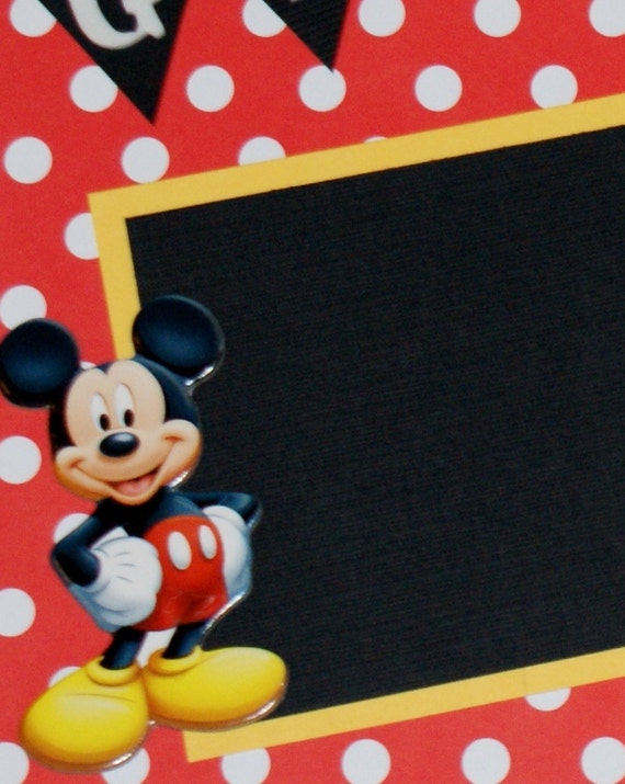 Disney Scrapbook Album, Premade Disney Vacation Scrapbook Album, Mickey Mouse Birthday Scrapbook Album, Disneyland Vacation Scrapbook