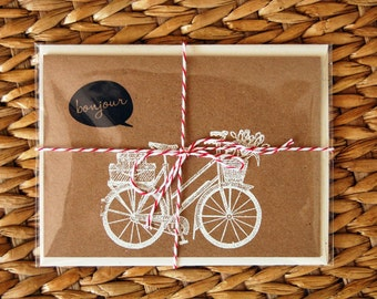 SALE! Bonjour Bicycle Card