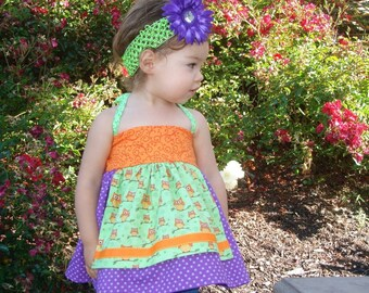 Confetti Betty Apron Halter top, sewing tutorial PDF Baby and Toddler girl sizes 6-12mo, 12-18mo, 18-24mo, 2t, 3t, 4t, 5t included