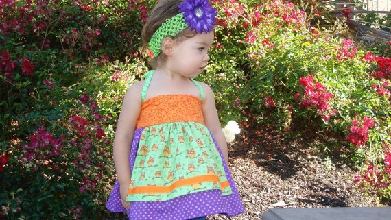 Confetti Betty Apron Halter top, sewing pattern tutorial PDF Baby and Toddler girl sizes 6-12mo, 12-18mo, 18-24mo, 2t, 3t, 4t, 5t included