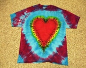 Heart  Tie Dye made your way pick ur own color - Youth