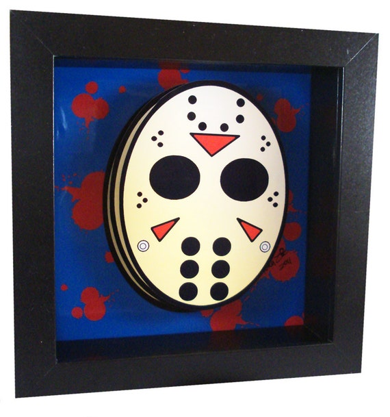 jason mask 3d pop art friday the 13th horror artwork jason. Black Bedroom Furniture Sets. Home Design Ideas