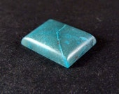 Patterned Rectangle Chrysocolla in Quartz 253 CQ