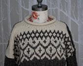 70's Fairisle Ski Sweater M/L