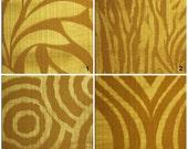 Custom Drapes - Modern / Animal Print in Gold 44X84in Curtain Panel