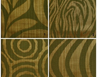 Custom Drapes - Modern / Animal Print in Green Beige 44X84in Curtain Panel
