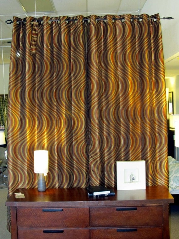 Items Similar To Chevron Curvy Grommet Curtains With A