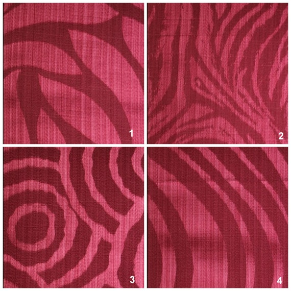 Custom Drapes - Modern / Animal Print in Magenta Pink 44X84in Curtain Panel