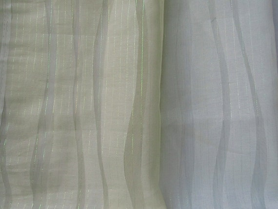 Textured Sheer Curtains In Cream White Drapes Available