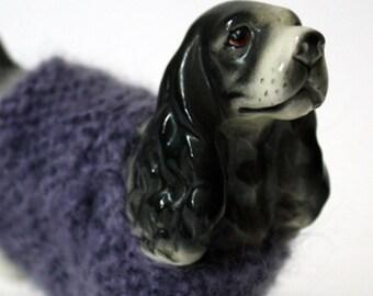 lilac sweater dog