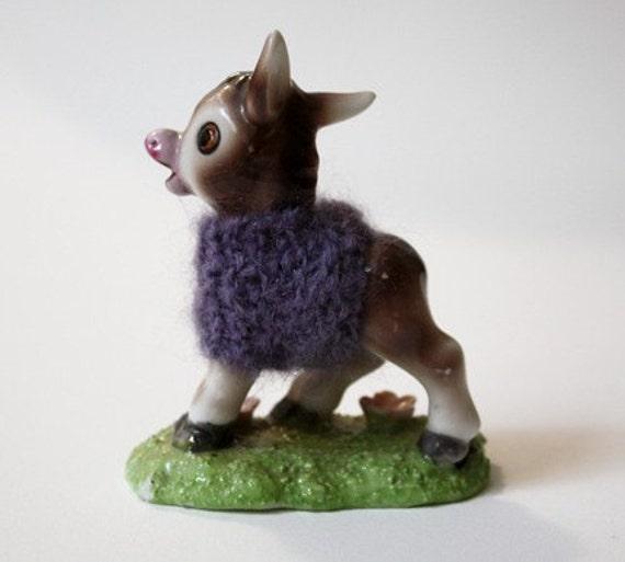 purple sweater mule