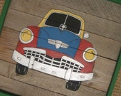 Custom Listing for Stephanie-Wooden Panels-Car and Bus Paintings