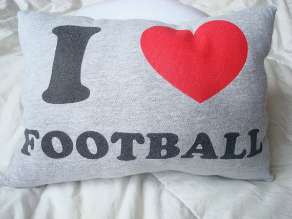 Handmade I Love Football Lumpy Pillow by brandy-son Zen master flash