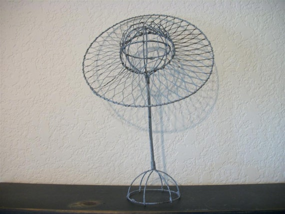 Blue Wire Hat and Stand Set