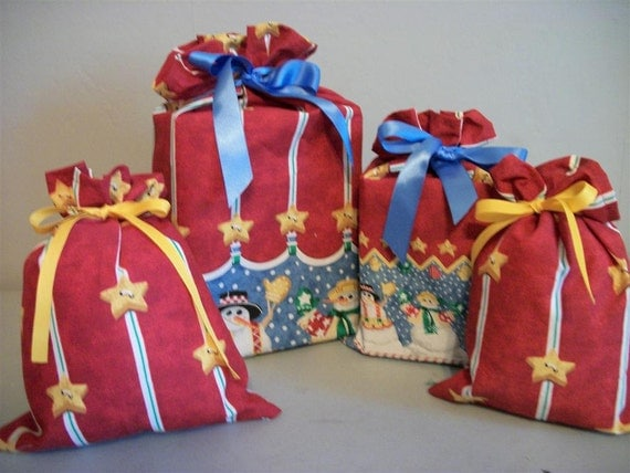 Christmas sale gift bags snowman wrap by
