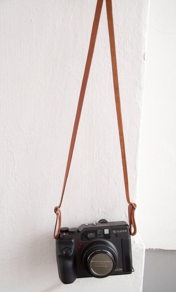 Buffalo leather camera strap