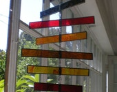 Stained Glass Spiraling Mobile
