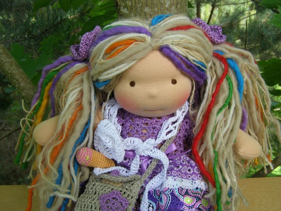 RESERVED for ajgregory418- Waldorf Inspired Doll, 10 inches