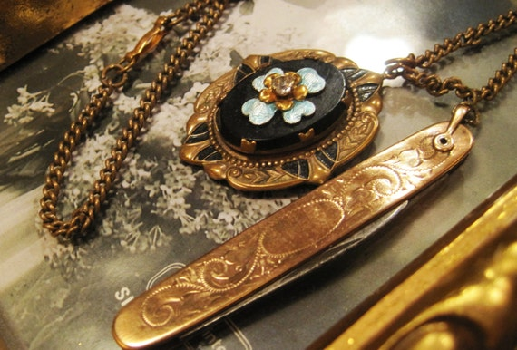 Reserved fpr Cathy Convo for Discount Code Antique Marie Antoinette 19th Century Art Nouveau Treasured Neck Piece