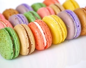 80 Assorted French Macarons for Cherwyn and her little girl