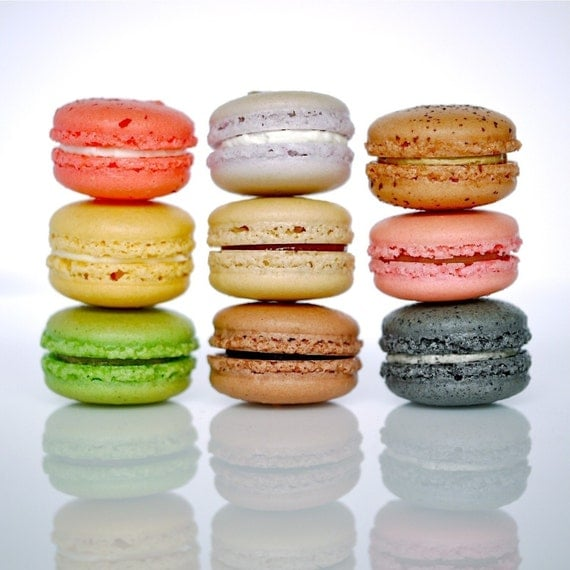24 Assorted Petit French Macarons - Perfect for tea time