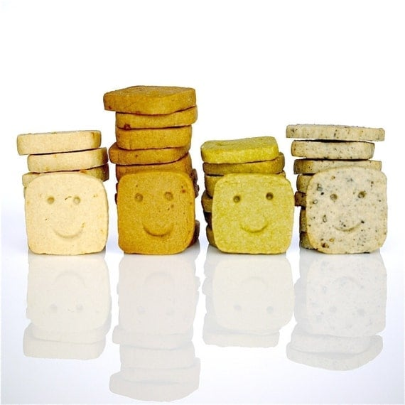 Assorted Smiley Icebox Cookies in 4 Flavors