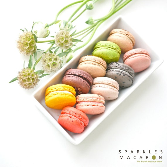 24 Assorted Regular French Macarons