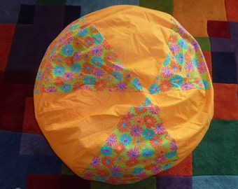 Daisy / /Gerbera Daisy Bean Bag Chair Cover, Golden Orange, Blue, Pink, Orange, Turquoise