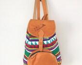 10% OFF COUPON.... Vintage Ethnic Guatemalan Large Backpack