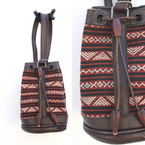 Vintage Ethnic Zig Zag Rucksack