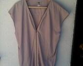 ACNE / AW 10 / minez dress / mauve, zipper front, brand new never worn, silk dress