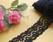 4cm black venise lace  trim