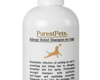 Allergy Relief Shampoo for Dogs, Medicated Dog Shampoo, 4-ounce