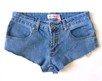 Vintage Denim Cutoffs - Low waisted - Four pockets - 1990